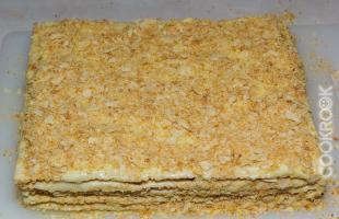 быстрый торт наполеон