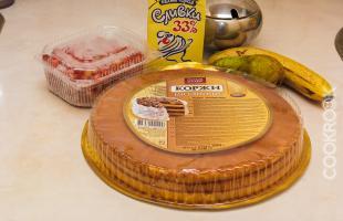 продукты для торта из готовых бисквитных коржей