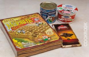 продукты для торта медовик из готовых коржей