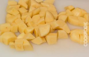 картофель крупными кусками