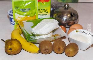 продукты для запеканки творожной с фруктами