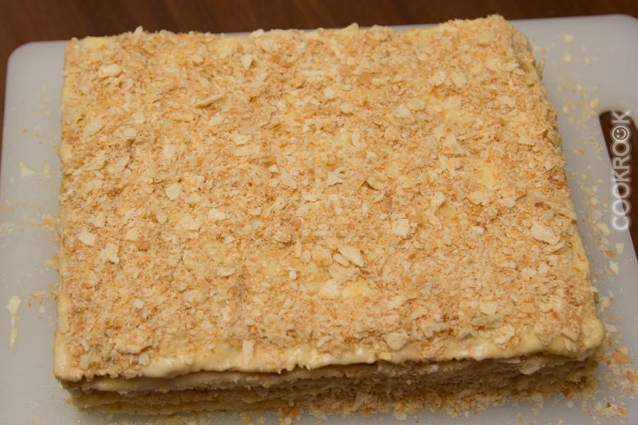 торт наполеон из готовых коржей рецепт с фото пошагово