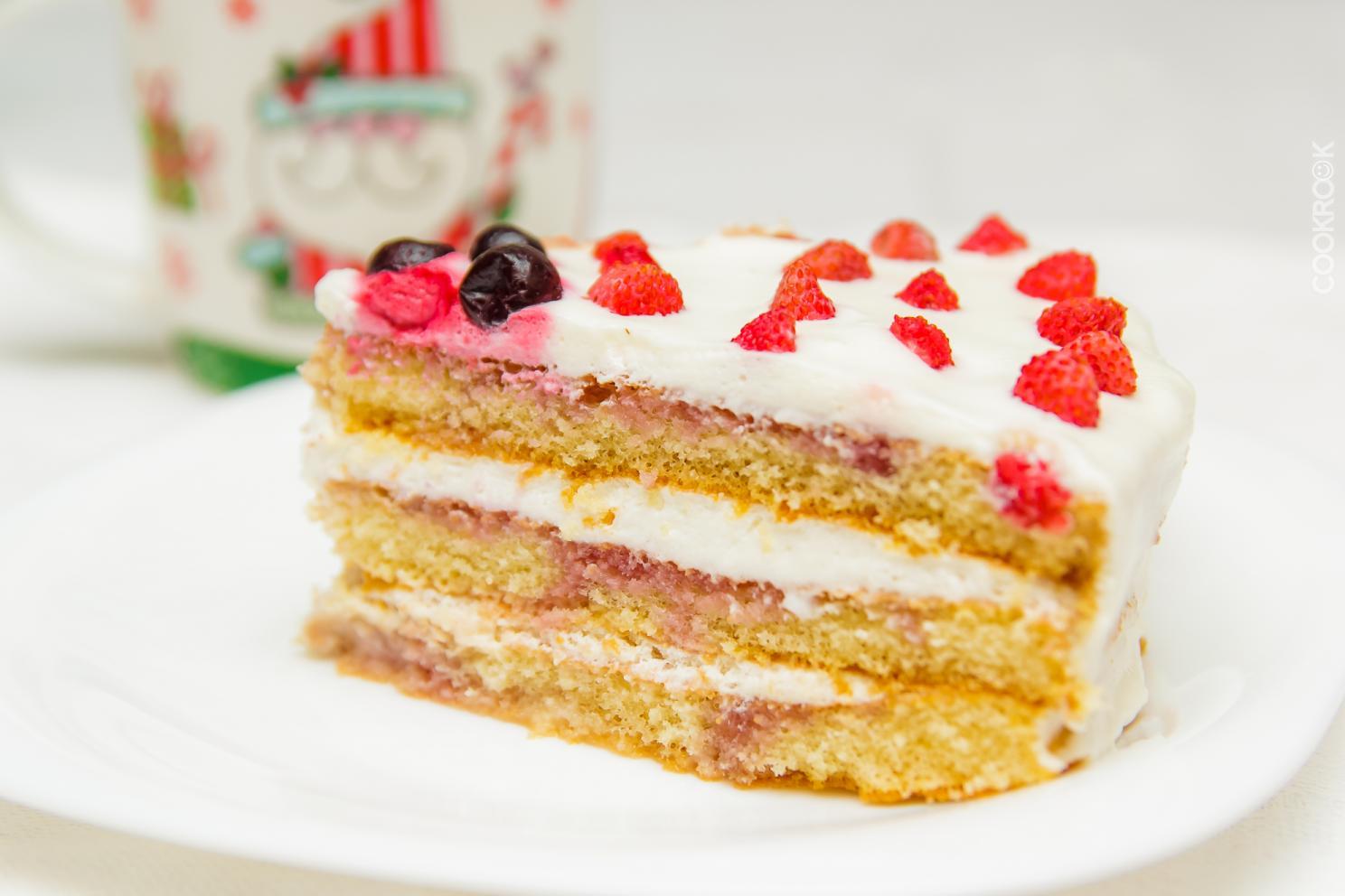 Торт их готовых коржей рецепт пошагово
