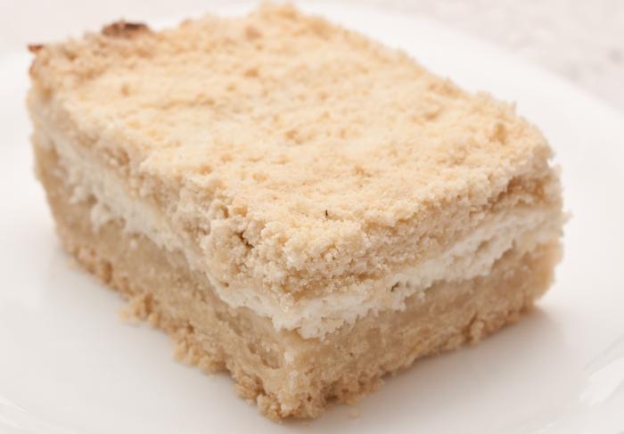 Рецепт песочного пирога «Крошка» с творогом