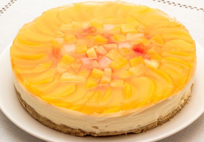 Рецепт творожный чизкейк без выпечки с фруктами