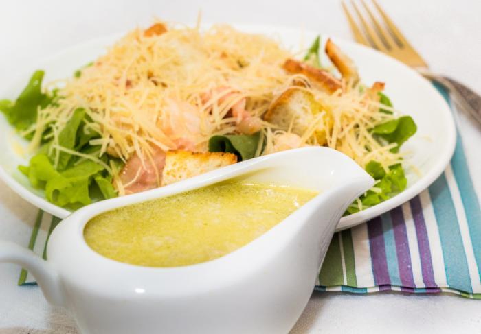 Рецепт салат Цезарь классический