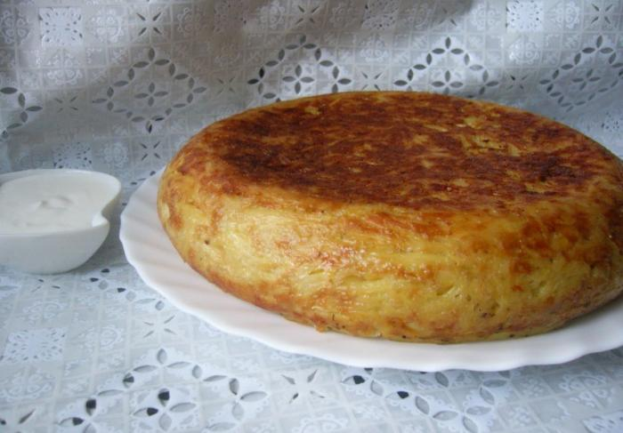 Картофельная запеканка с фаршем в мультиварке