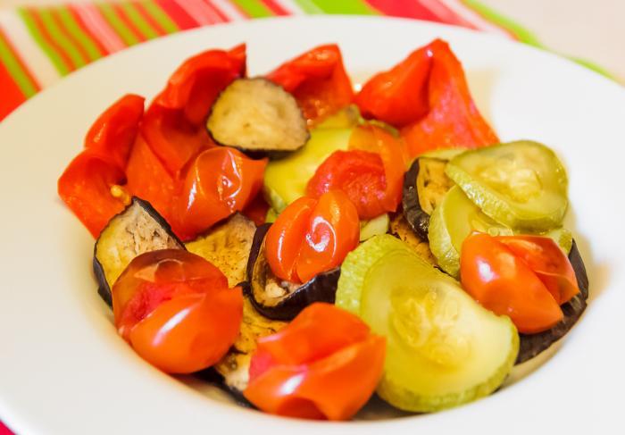 Овощи в духовке запеченные