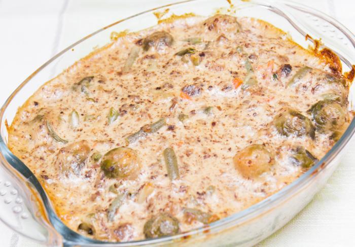 Цветная капуста с брокколи в духовке