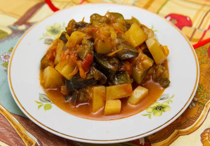 Рецепт овощного рагу в мультиварке