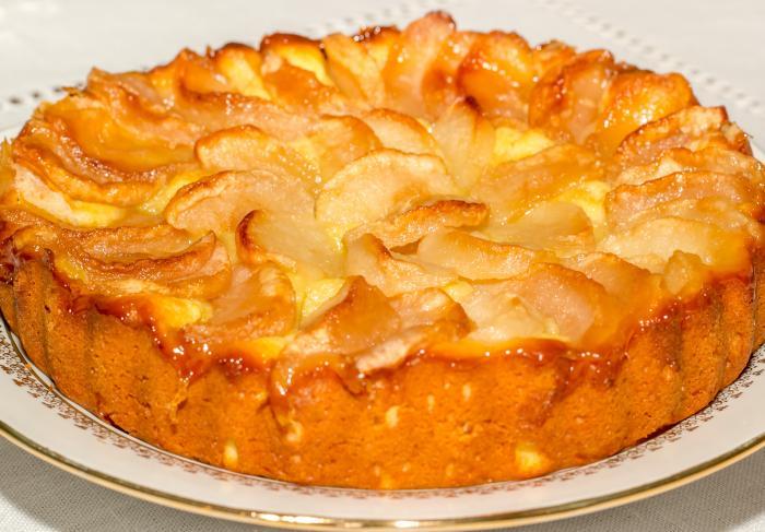 Рецепт пирога яблочного из творожного теста