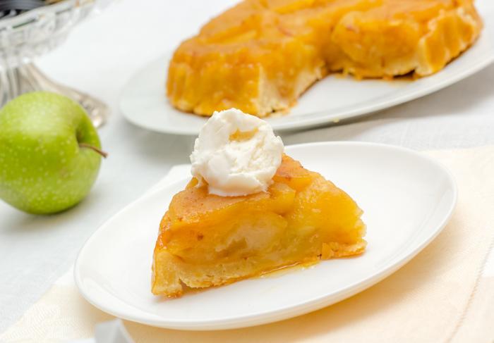 Рецепт французкого яблочного пирога Тарт Татен