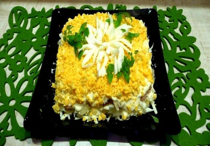 Салат «Хризантема»