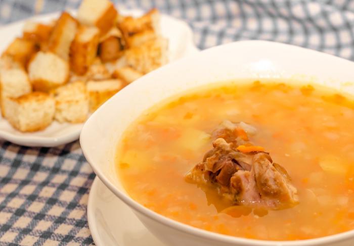 Рецепт супа горохового с копченостями