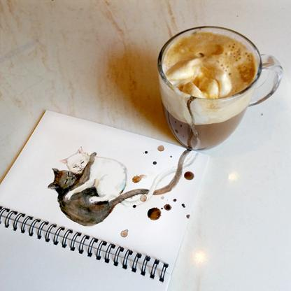 Московская художница создает котов из кофе