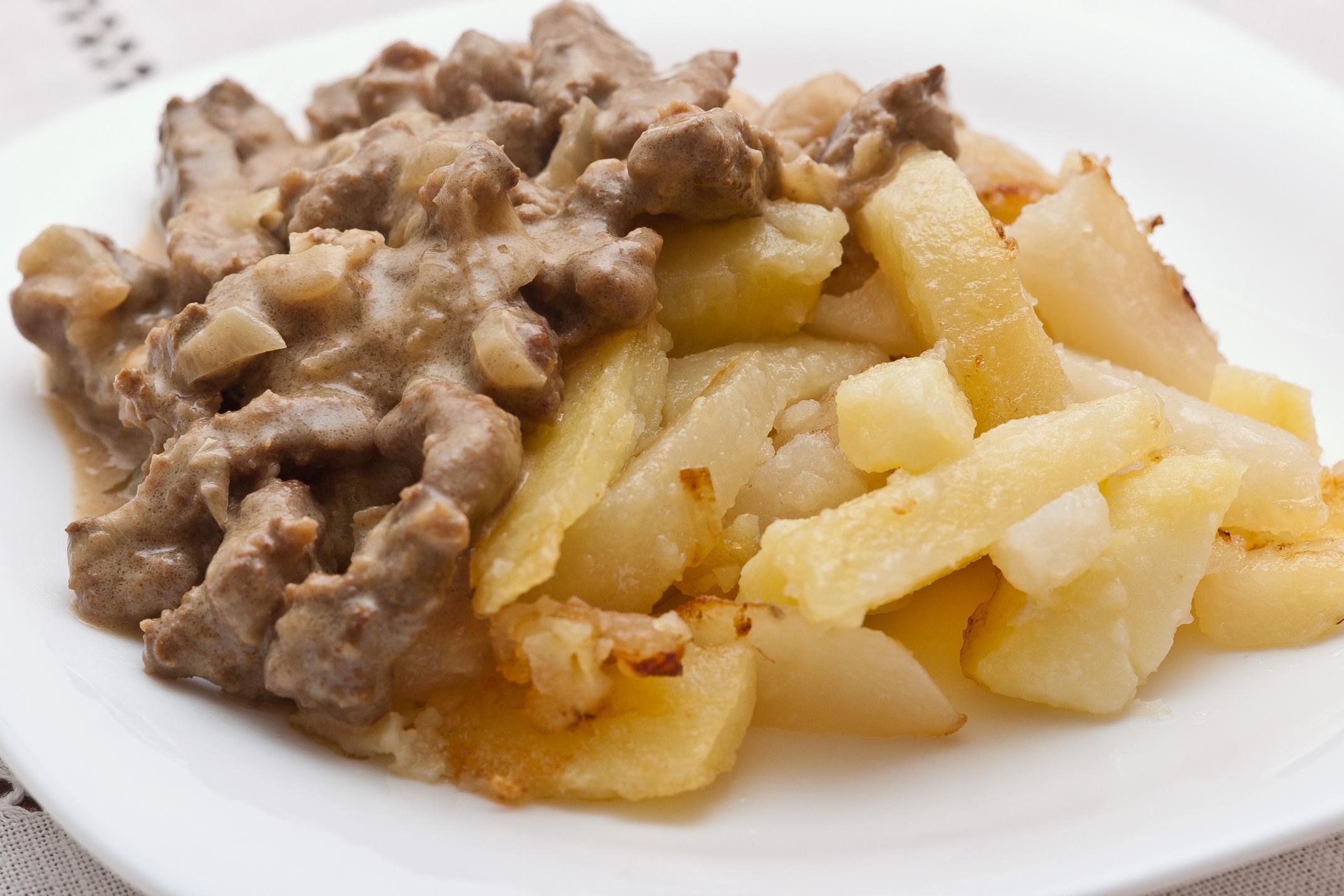 Рецепт бефстроганова из говяжьей печени