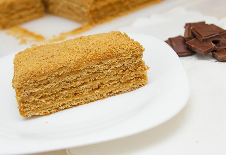 Торт медовик из готовых коржей